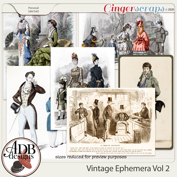 Heritage Resource Vintage Ephemera Vol 02 by ADB Designs