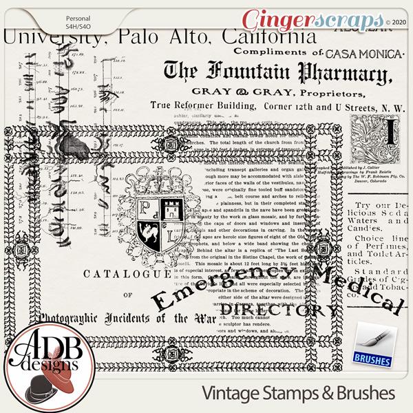 Heritage Resource Vintage Stamps & Brushes by ADB Designs