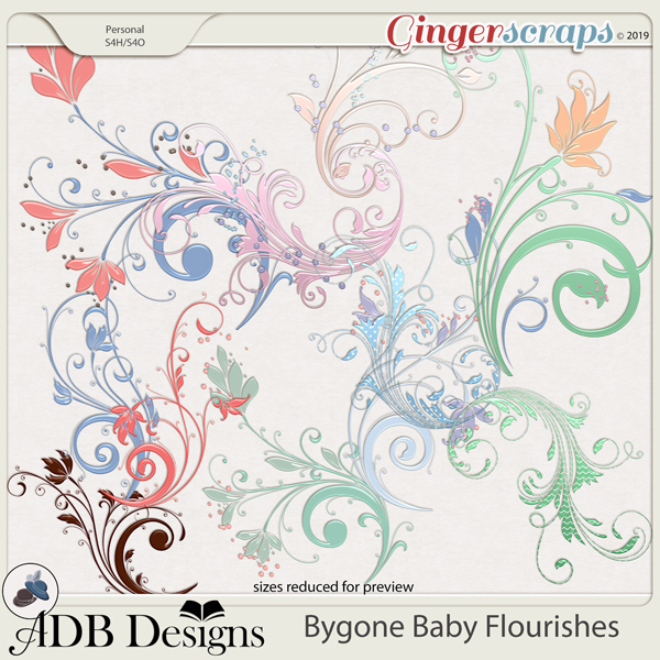 Bygone Baby Flourishes by ADB Designs