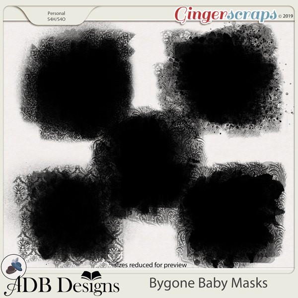 Bygone Baby Masks by ADB Designs