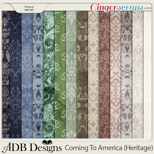 Coming To America Shabby Damask Solids by ADB Designs