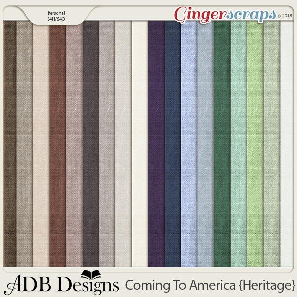 Coming To America Vintage Solids by ADB Designs