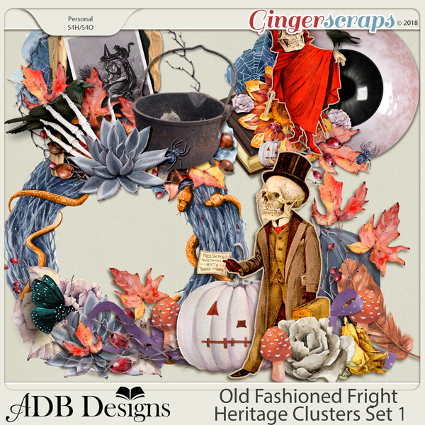 Old Fashioned Fright Heritage Clusters Set 1 by ADB Designs