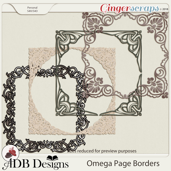 Omega Page Borders by ADB Designs