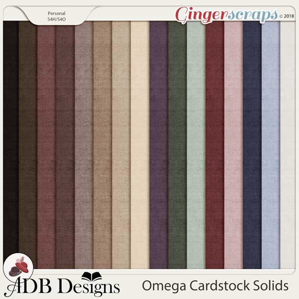 Omega Solid Papers by ADB Designs