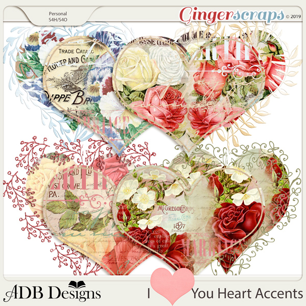 I Heart You Accents by ADB Designs