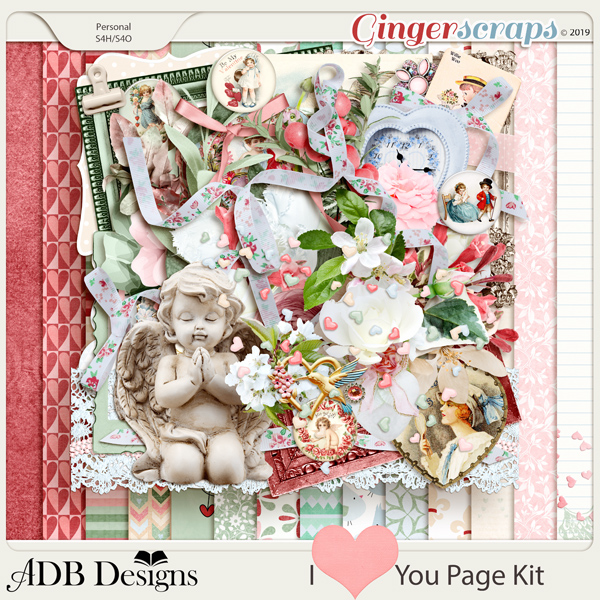I Heart You Page Kit by ADB Designs