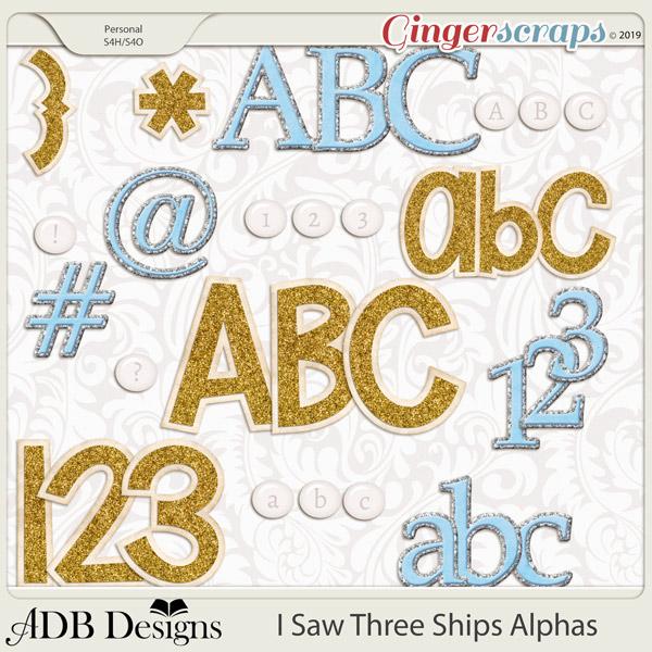 I Saw Three Ships Alphas by ADB Designs