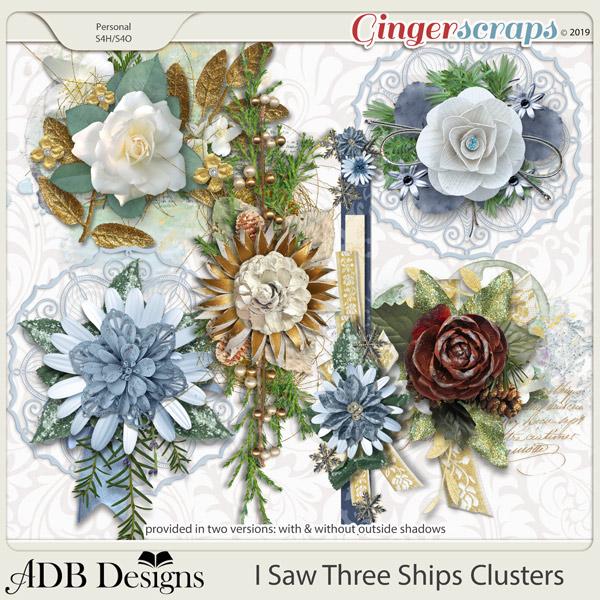 I Saw Three Ships Clusters by ADB Designs