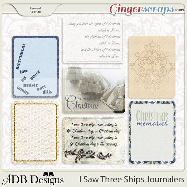 I Saw Three Ships Journalers by ADB Designs