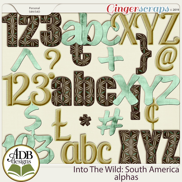 Into The Wild South America Alphas by ADB Designs