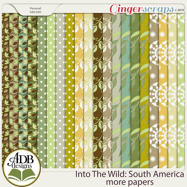 Into The Wild South America More Papers by ADB Designs