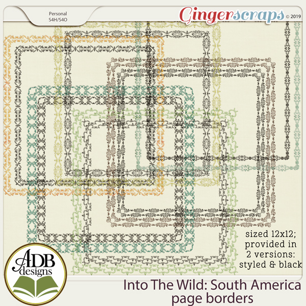 Into The Wild South America Page Borders by ADB Designs