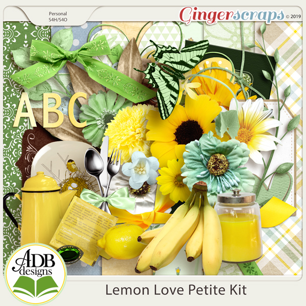 Lemon Love Page Kit by ADB Designs