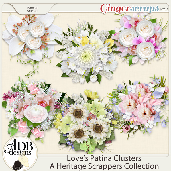 Love's Patina Clusters by ADB Designs