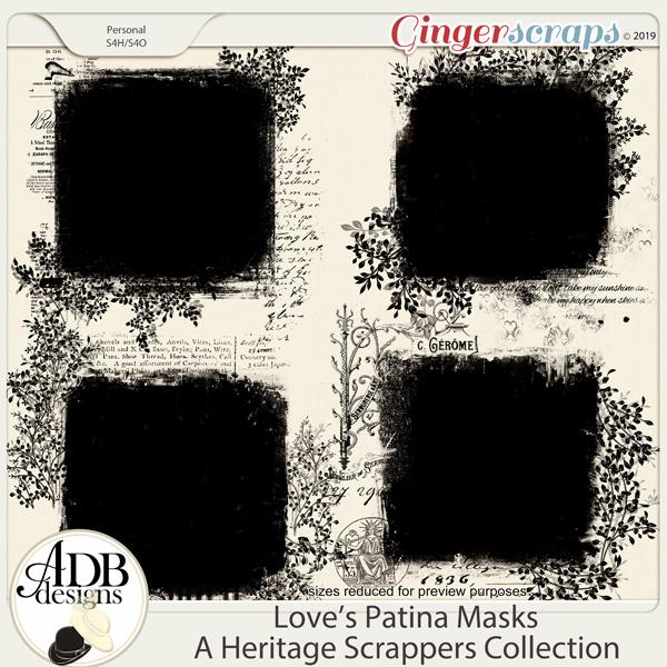 Love's Patina Masks by ADB Designs
