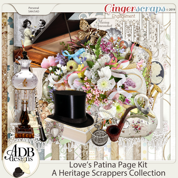 Love's Patina Page Kit by ADB Designs