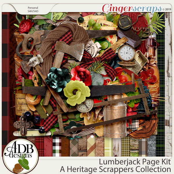 Lumberjack Page Kit by ADB Designs