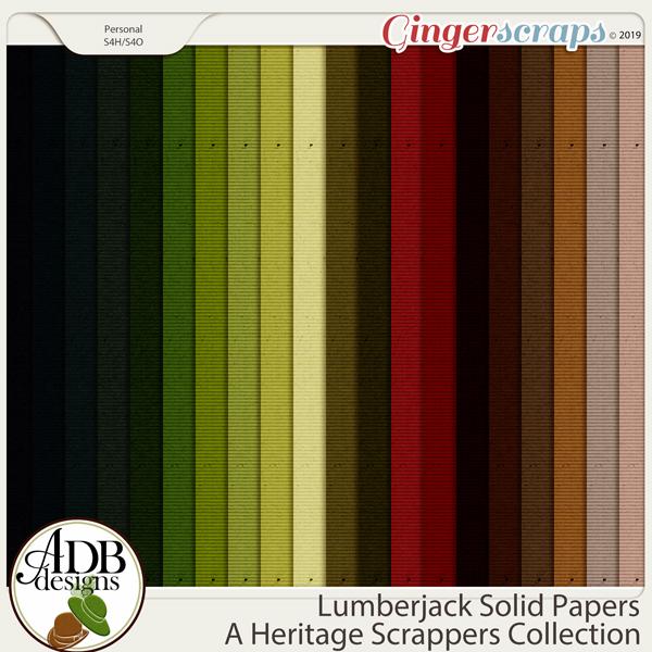 Lumberjack Solid Papers by ADB Designs