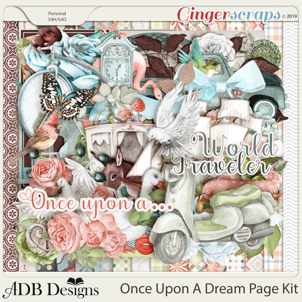 Once Upon A Dream Page Kit by ADB Designs