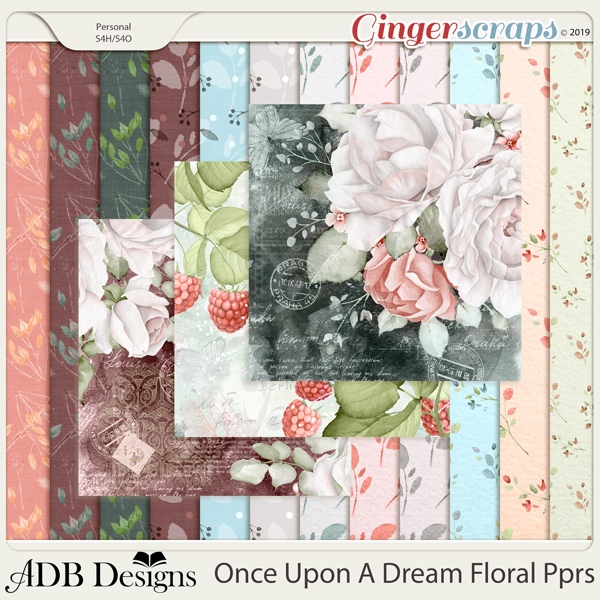 Once Upon A Dream Floral Paper by ADB Designs