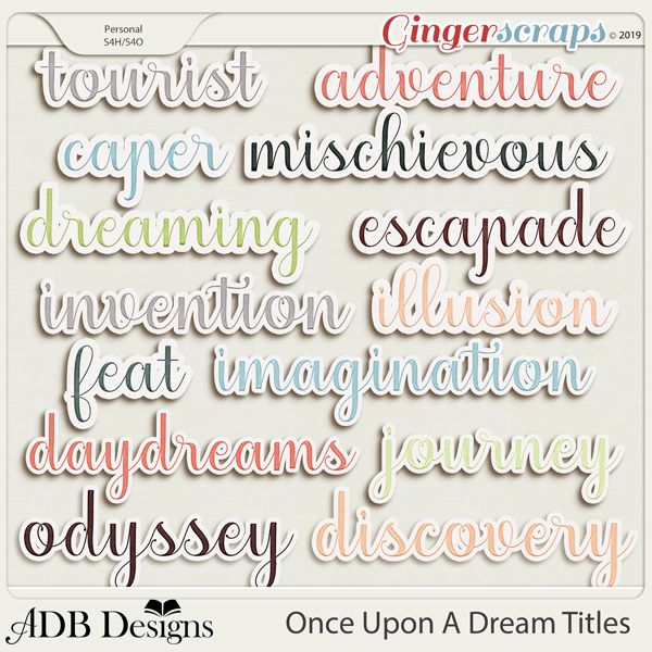 Once Upon A Dream Word Art Titles by ADB Designs