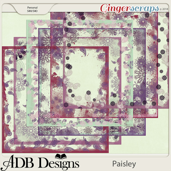 Paisley Page Borders by ADB Designs