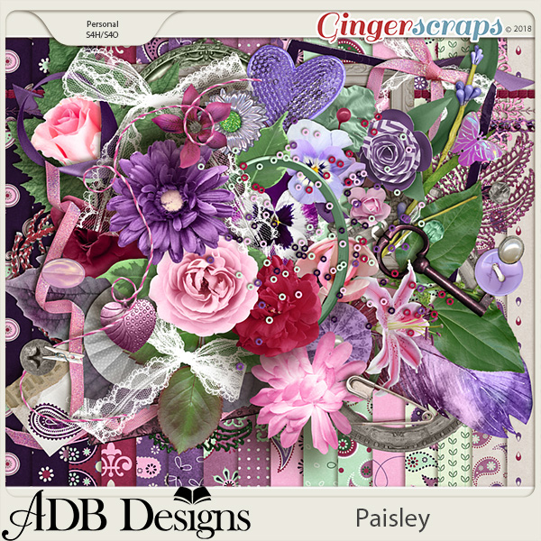 Paisley Page Kit by ADB Designs