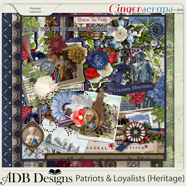 Patriots And Loyalists Page Kit by ADB Designs