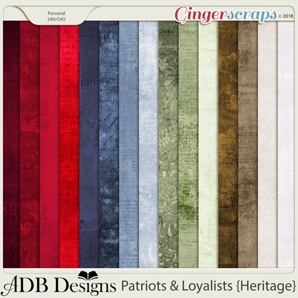 Patriots And Loyalists Grunge Solids by ADB Designs
