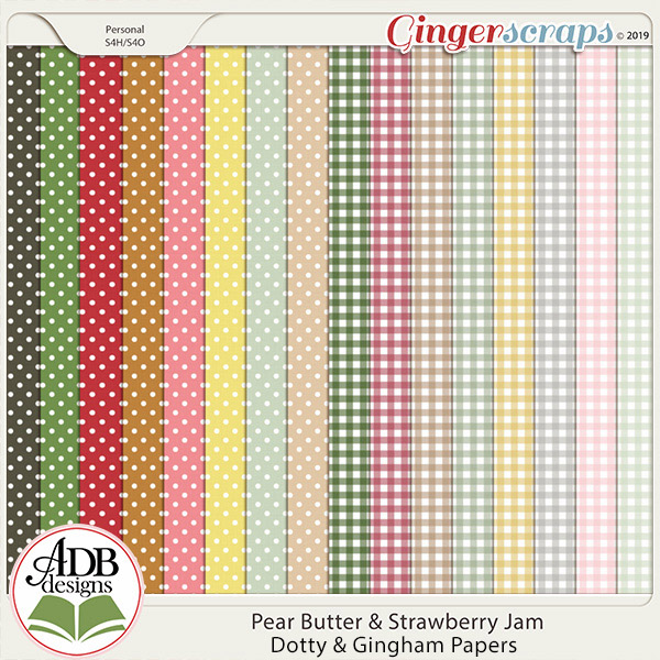 Pear Butter & Strawberry Jam Patterns by ADB Designs