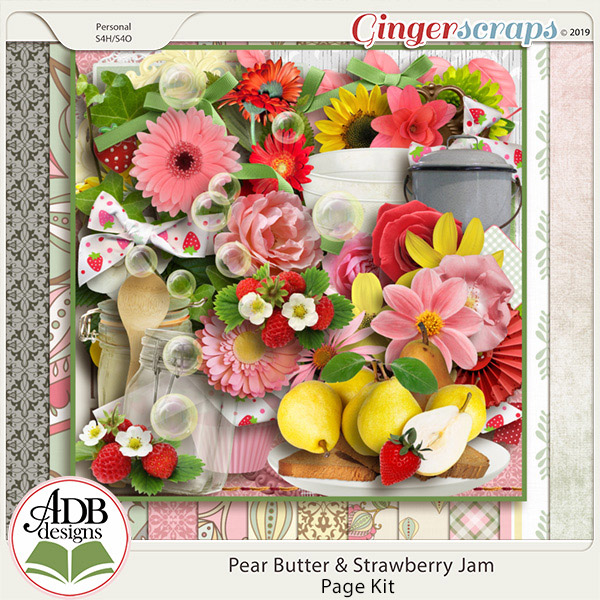 Pear Butter & Strawberry Jam Page Kit by ADB Designs