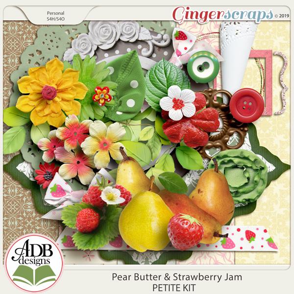 Pear Butter & Strawberry Jam Mini Kit by ADB Designs