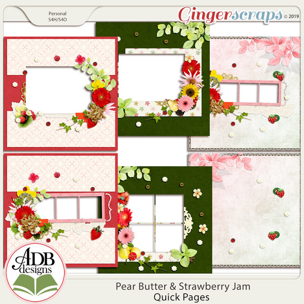 Pear Butter & Strawberry Jam Mini Album by ADB Designs