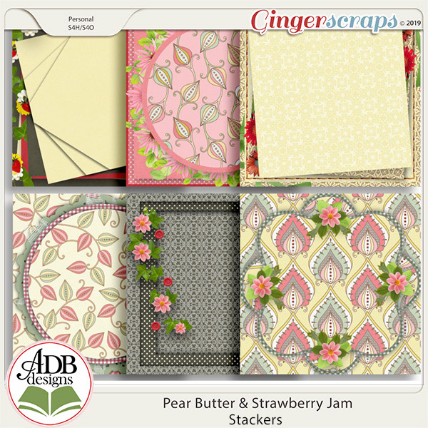 Pear Butter & Strawberry Jam Stacked Papers by ADB Designs