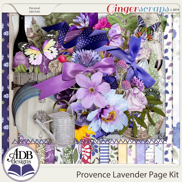 Provence Lavender Page Kit by ADB Designs