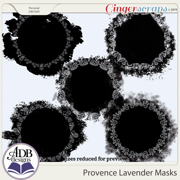 Provence Lavender Masks by ADB Designs