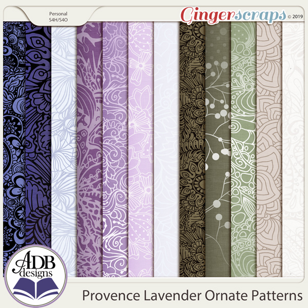 Provence Lavender Ornate Papers by ADB Designs