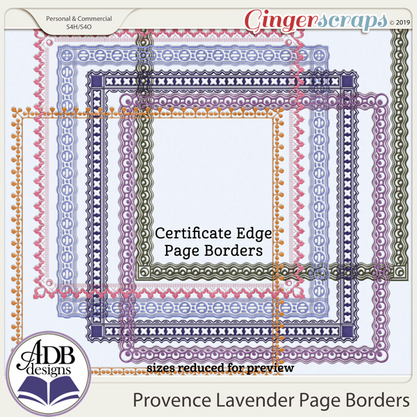 Provence Lavender Page Borders by ADB Designs