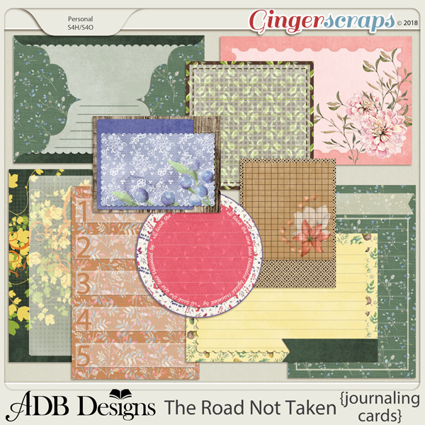 The Road Not Taken Journal Cards by ADB Designs