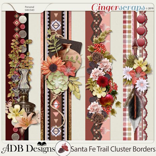 Santa Fe Trail Cluster Borders by ADB Designs