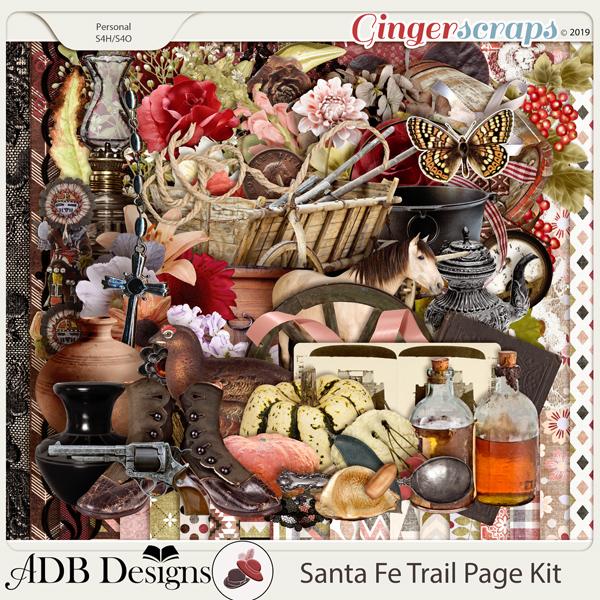 Santa Fe Trail Page Kit by ADB Designs