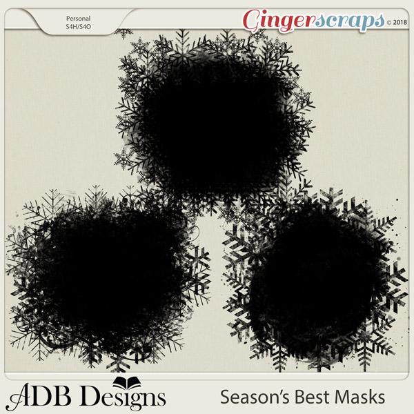 Season's Best Masks by ADB Designs