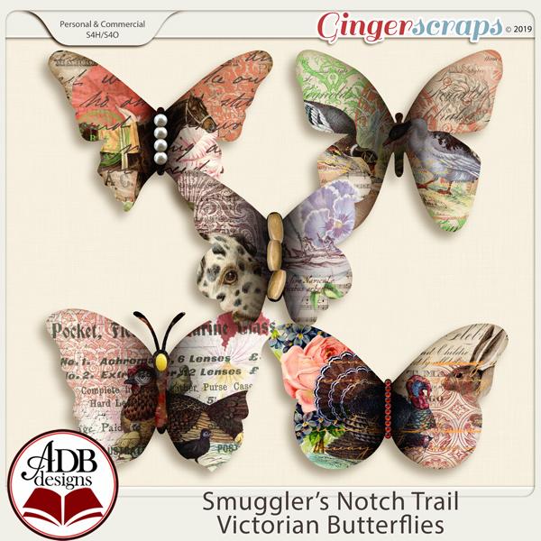 Smugglers Notch Trail CU OK Victorian Butterflies by ADB Designs