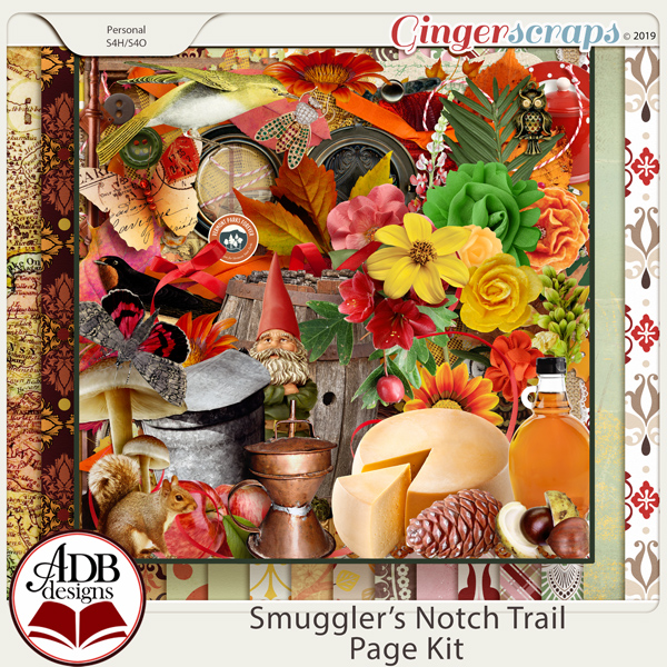 Smugglers Notch Trail Page Kit by ADB Designs