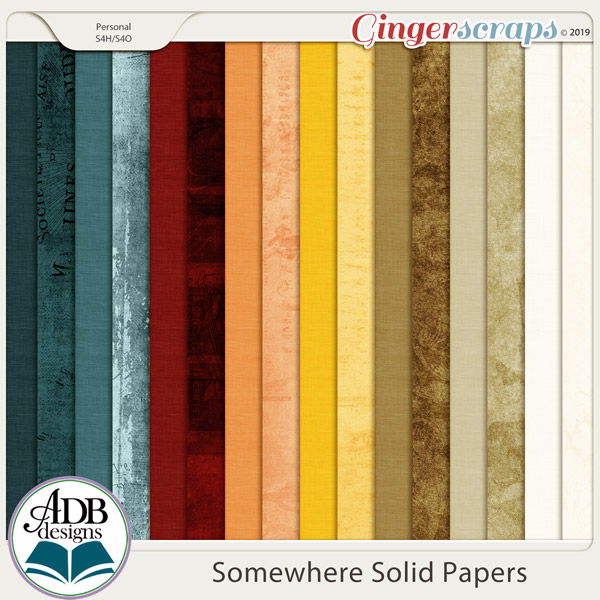 Somewhere Solid Papers by ADB Designs