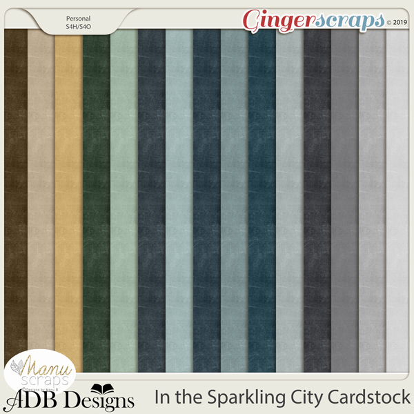 In The Sparkling City Cardstock Solids by ADB Designs