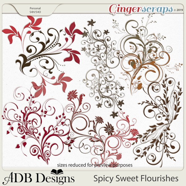 Spicy Sweet Flourishes by ADB Designs