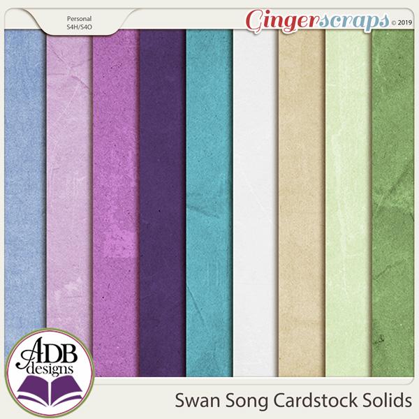 Swan Song Cardstock Solids by ADB Designs