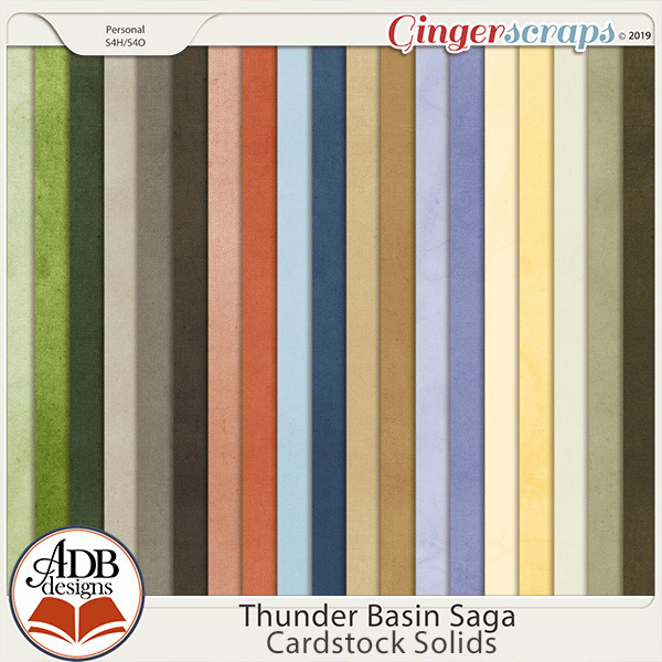 Thunder Basin Saga Cardstock Solids by ADB Designs